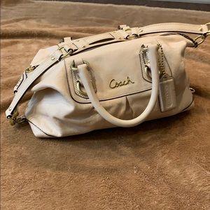 Coach cream handbag with removable strap